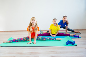 Kids doing exercises
