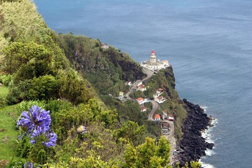 Lighthouse in Nordeste on the island of San Miguel