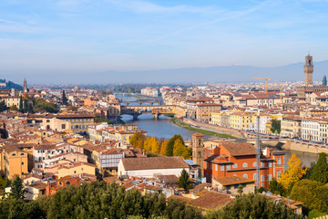 panoramic view of florence city, italy