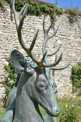 Tête de cerf en bronze