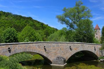 Brücke in Rothenburg, Bayern, Deutschland