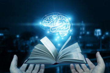 Book as a source for the brain.