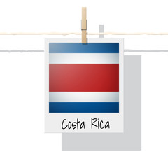 North America continent flag collection with photo of Costa Rica flag , vector , illustration