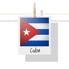 North America continent flag collection with photo of Cuba flag , vector , illustration