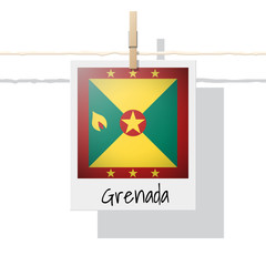 North America continent flag collection with photo of Grenada flag , vector , illustration
