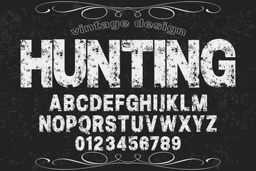 Font.alphabet.Script.Typeface handcrafted handwritten vector label design