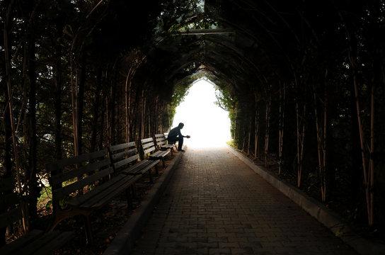 depression, teen depression, pain, suffering, tunnel.