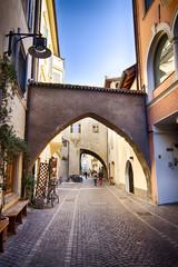 Una strada di Bolzano