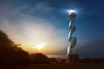 Curved Lighthouse Wall mural