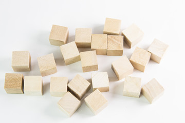 small wooden square cubes