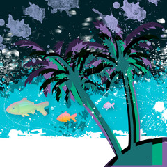 oceano e palma