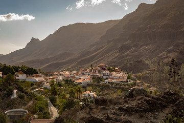 Fataga, a mountain village in Gran Canaria, Canary Islands, Spain