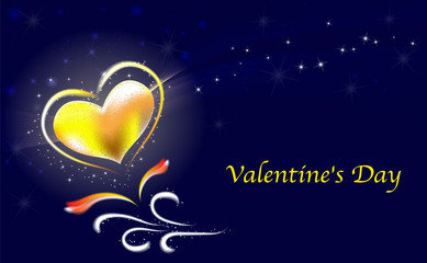 valentins day stars vector image