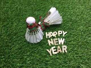 Happy new year to badminton player