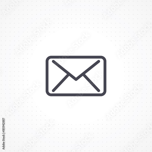 Email Icon On White Background Outline Email Icon For Business