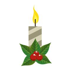 christmas candles decorative icon vector illustration design