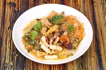 Japanese food,Sukiyaki in semi-dry style as fried mixed vegetable .