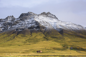 Snowcapped Mountain in Iceland