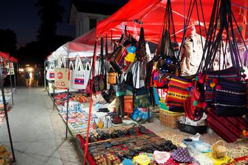 Road market Luang prabang in Lao