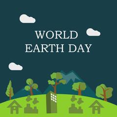 World Earth Day Illustration Vector