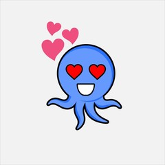 Cute octopus love