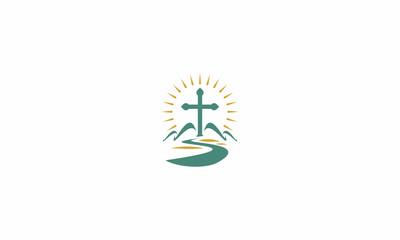 cross, Christian, Catholic, Christian, worship, prayer, Jesus, God, Christ, emblem symbol icon vector logo