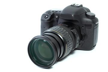 Photo camera isolated on a white background