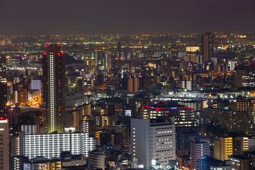 Osaka Nightscape from Umeda Sky Building