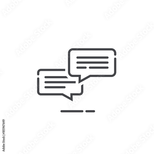 Chat Messages Icon Notification Vector Illustration Line Outline