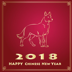 Year of The Yellow Dog. 2018 year.
