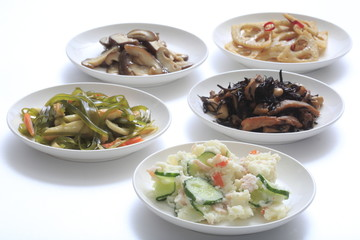 Potato salad and Japan variety of dishes