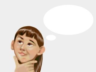 Pensive girl idea