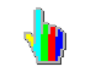 cursor hand tv channel pointer mouse internet web network image vector