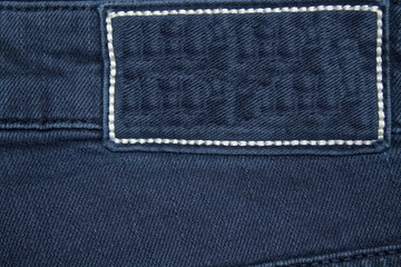 Empty label denim texture for the traditional business background