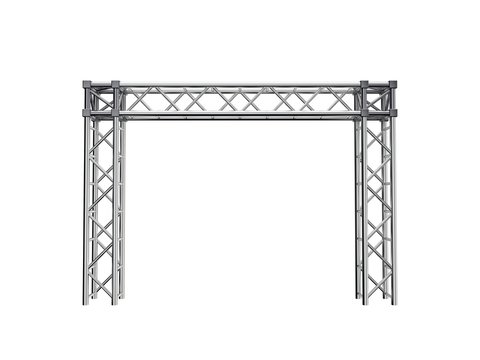 Truss construction. Isolated on white background. 3D rendering illustration.