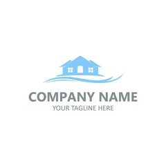Real estate logo element vector template for company business isolated