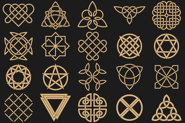 Set of ancient symbols