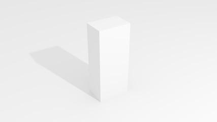 3D White box mock up illustrating.