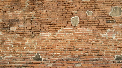 Background of vintage old brick wall texture