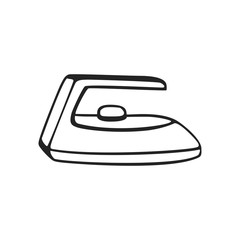 Vector hand drawn icon of iron