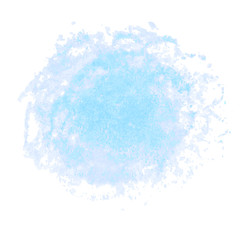 Blue watercolor stain isolated on white background