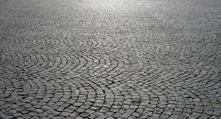 Old cobblestone pavement close-up. Wall mural