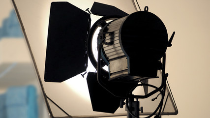 Big production spot light equipment in studio