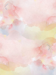 Watercolor abstract pink and yellow  background