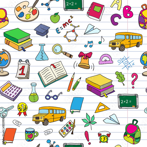 School Book Cover Background : Quot back to school seamless vector pattern can be used for