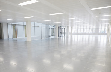 Large vacant open plan office space