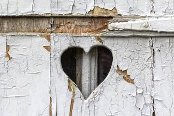 Wooden heart shape, vintage look