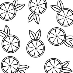 orange juicy fruit seamless pattern vector illustration thin line image