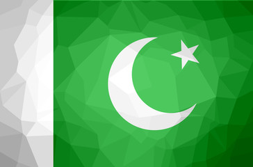 Pakistan Polygon Flag.