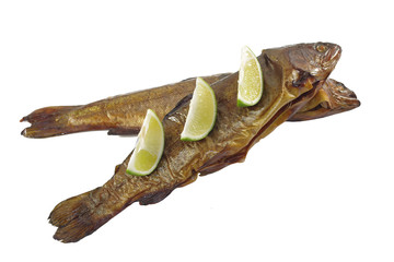 smoked trout with lemon
